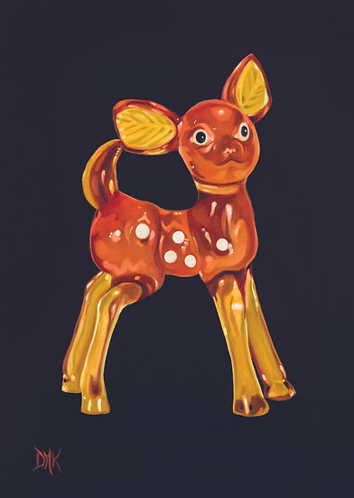 Kitsch Plastic Bambi Ornament
