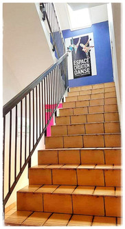 Escalier menant à la salle 2