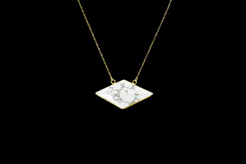 Howlite Octahedron Necklace