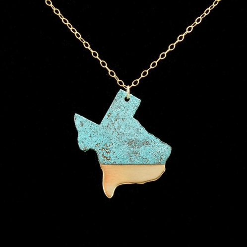 Large Patina Texas Necklace   Best Seller   Modern Artifacts   Boho   Minimal