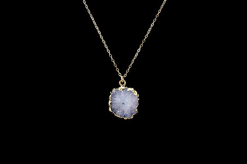 Crystal Stalactite Slice Necklace