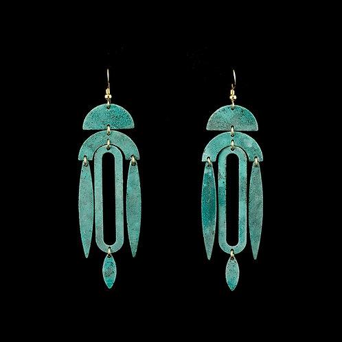 Patina Ekeko Earrings | Modern Artifacts | Handmade Jewelry | Houston TX