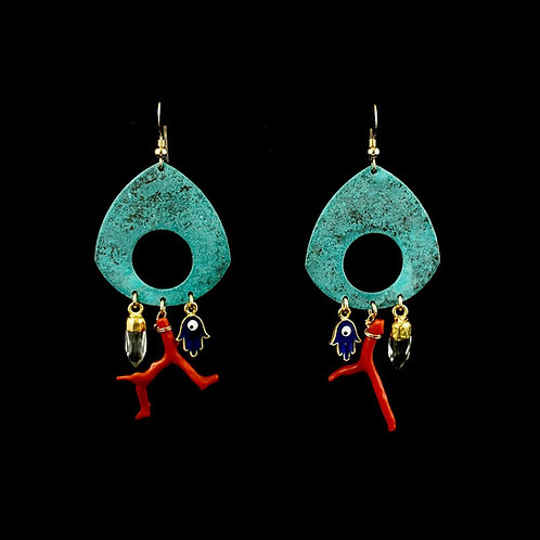 Cornicello Earrings | Modern Artifacts | Handmade Jewelry | Boho