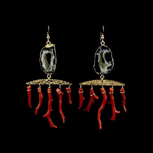 Lal Moonga Earrings | Modern Artifacts | Handmade Jewelry | Houston TX