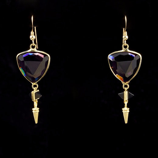 earrings stud index trillion carat swarovski crystal elements details cut