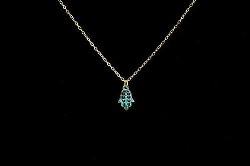 Patina Hamsa Necklace | Modern Artifacts | Handmade Jewelry | Houston TX | Boho