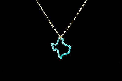 Patina Texas Outline Necklace | Modern Artifacts