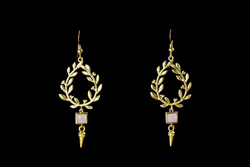 Golden Laurel Earrings