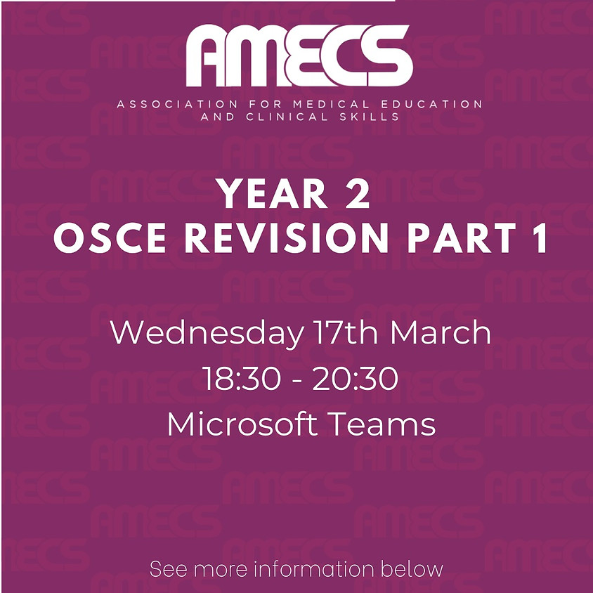 Year 2 OSCE Revision - Day I