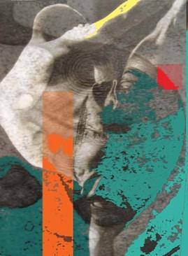 Oeuvre numérique originale rehaussée sur canevas, 90 cm X 68 cm ( disponible )