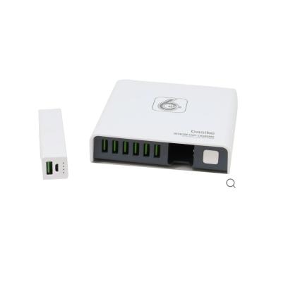 Carregador Com 6 Portas USB + Power Bank 2600Mah
