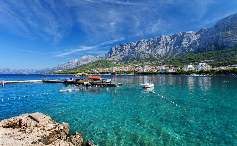 Die Bucht von Makarska in Kroatien