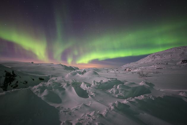 Winterurlaub in Schweden - Polarlicht (aurora borealis)