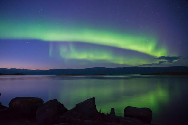 Polarlicht in Schweden