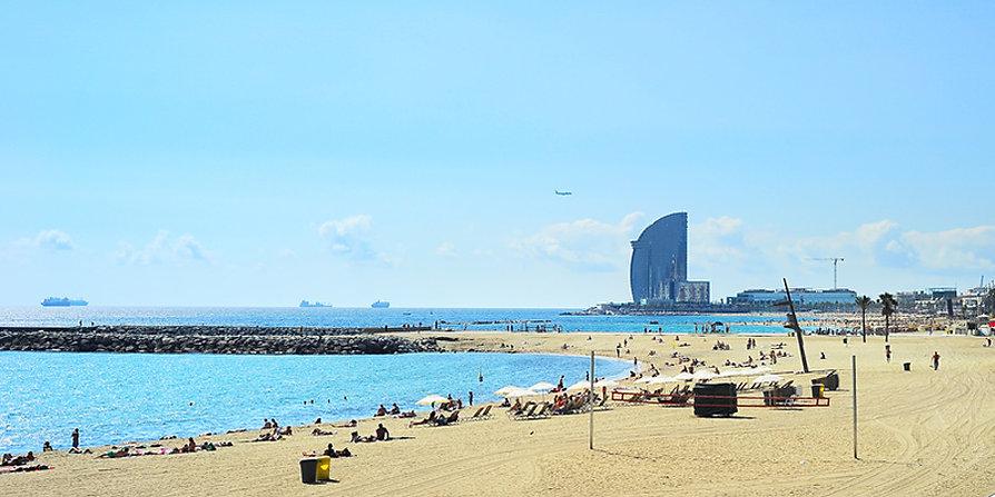 Barcelona - der Strand von Barceloneta