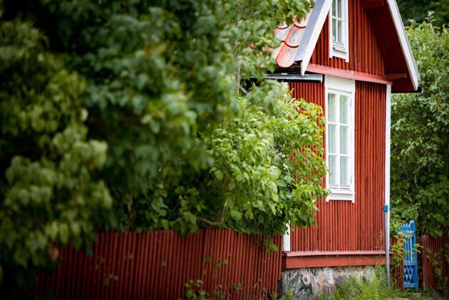 Åsens by - traditionelles Haus in Schweden