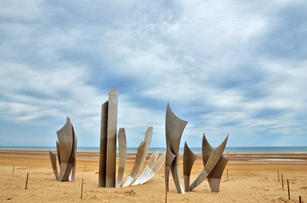 D-Day - am Omaha Beach steht heute ein Denkmal