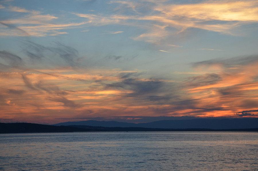 Sonnenuntergang in der Bucht von Selce