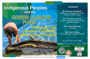 Tebtebba Foundation:Accessing funds from the GCF: challenges and prospects for indigenous peoples