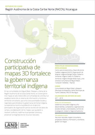 Construcción participativa de mapas 3D fortalece la gobernanza territorial indígena
