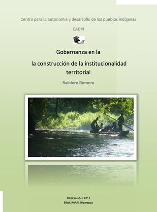 Gobernanza en la Construcción de la institucionalidad territorial.