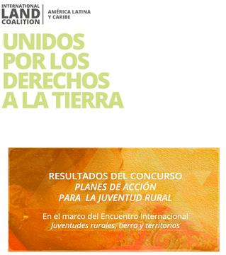 Resultados del  concurso Planes de Acción para la Juventud Rural  en el marco del Encuentro Internac