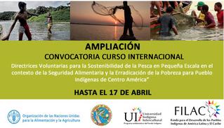 Curso Internacional Directrices Voluntarias para la Sostenibilidad de la Pesca en Pequeña Escala.