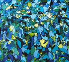 'Bodrum', 100x100cm 2020 Tuval üzerine akrilik