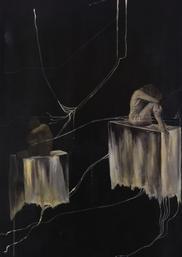 'Yalnızlık 1', 120x80cm 2010 Tuval üzerine karışık teknik