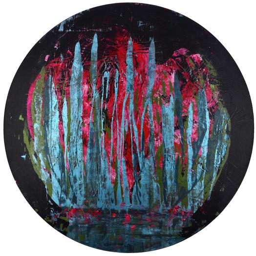 'İsimsiz 2', Çap. 120cm 2020 Tuval üzerine akrilik boya