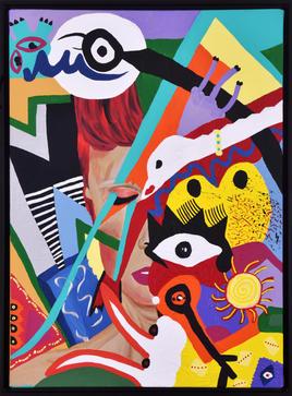 'Feel like a Bowie', 90x65cm 2020 Tuval üzerine akrilik