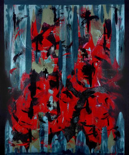 'İsimsiz 1', 120x100cm 2020 Tuval üzerine akrilik boya