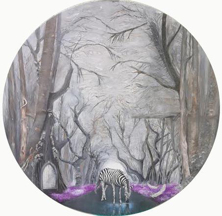 'Bir zamanlar', Çap.90.5 2020 Tual üzerine yağlı boya