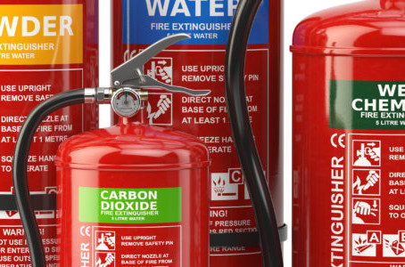 The types of fire extinguishers