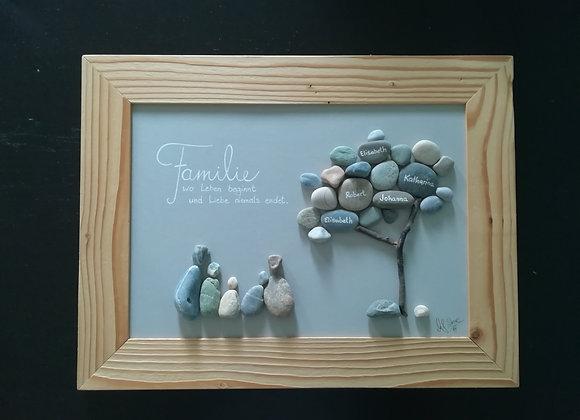 Steinbild - Stoneart, Familie und ihr Lebensbaum, Stammbaum, Familie wo Leben beginnt