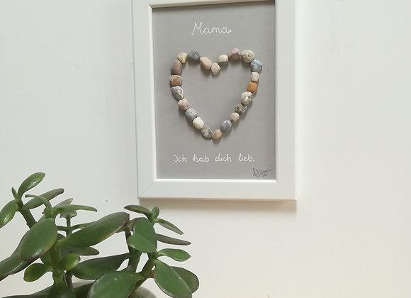 Steinbild Herz für eine liebe Mutter, Mama, Ich hab dich lieb