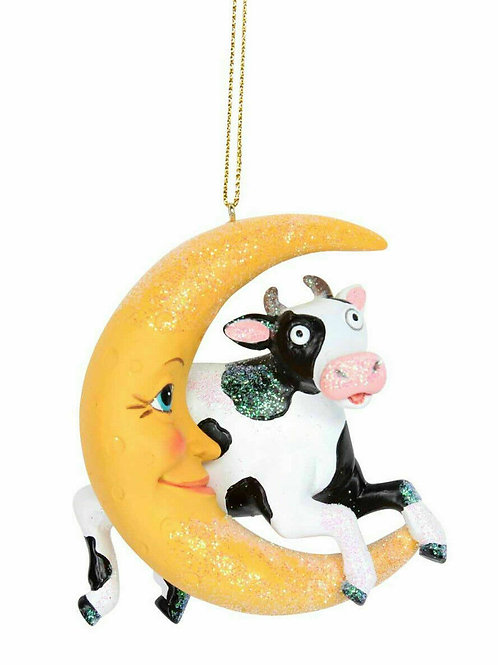 Cow Jumps Over The Moon Christmas Tree Decoration by Gisela Graham