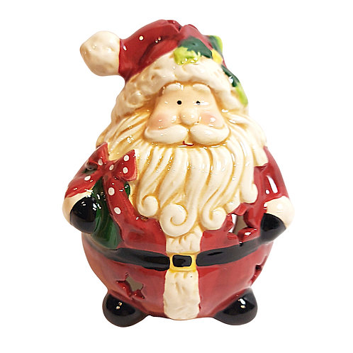 Jolly Santa Ceramic Tealight Holder