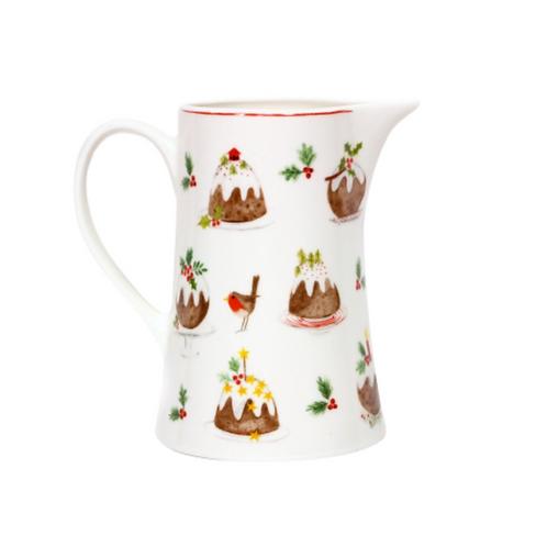 Bone China Christmas Pudding Milk Jug