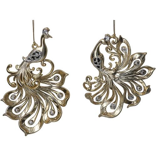 Set of 2 Bird Decorations by Gisela Graham