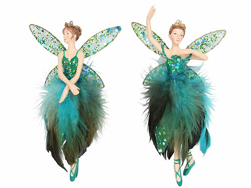 One Peacock Fairy Decoration by Gisela Graham