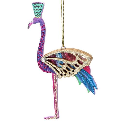 Gisela Graham Fretwork Flamingo Tree Bauble
