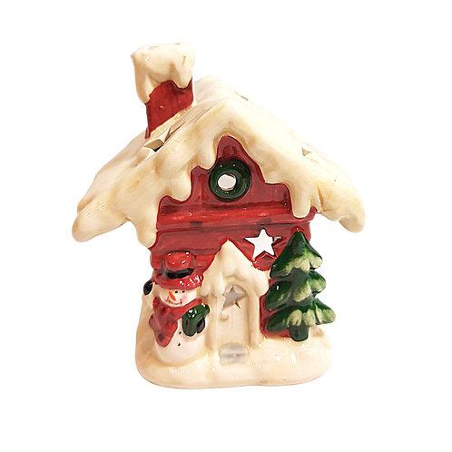 Christmas House Ceramic Tealight Holder