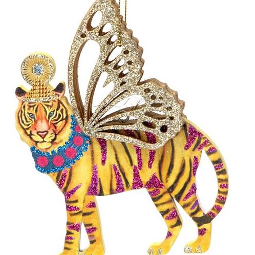 Gisela Graham Fretwork Tiger Tree Bauble