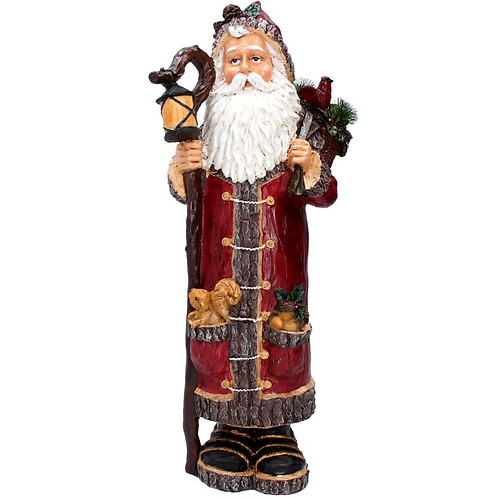 Gisela Graham Large Resin Traditional Father Christmas Decoration