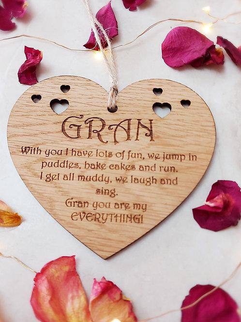 Gran Hanging Decoration with Sentimental Poem