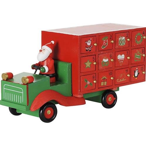 Wooden Lorry Advent Calendar by Gisela Graham