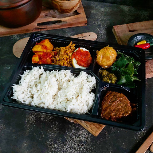Bento Box Nasi Minang Bukit Tinggi