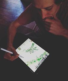 Work! Trabalhando em parceria com a _escola_da_unidade. Ilustração artística, assentamento