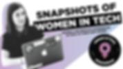 Snapshots of Women in Tech Meetup Banner
